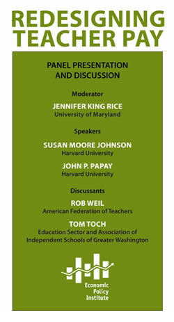 Redesigning Teacher Pay -- An EPI forum