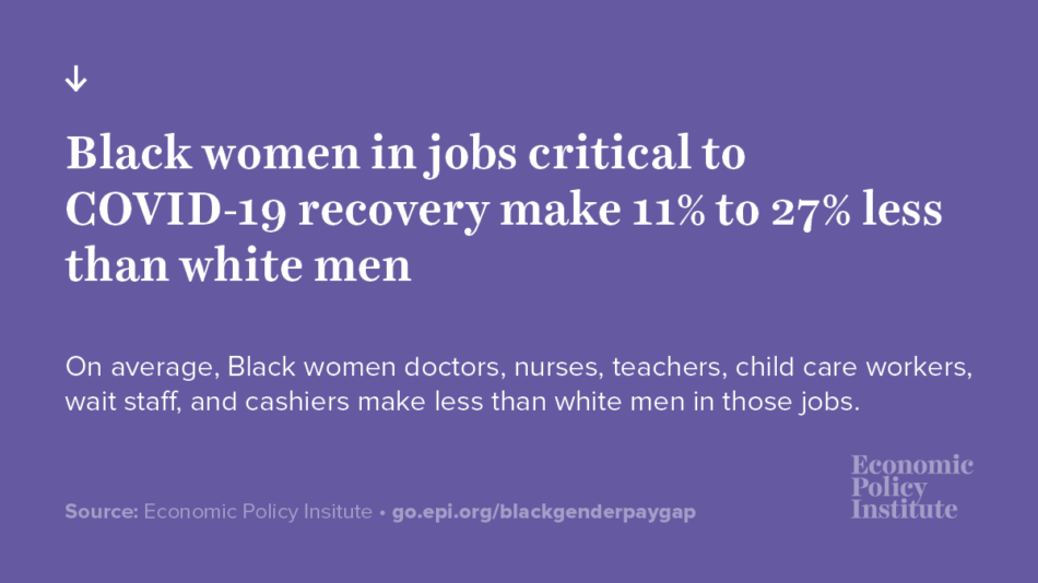 Black women workers are essential during the crisis and for the recovery but still are greatly underpaid 2