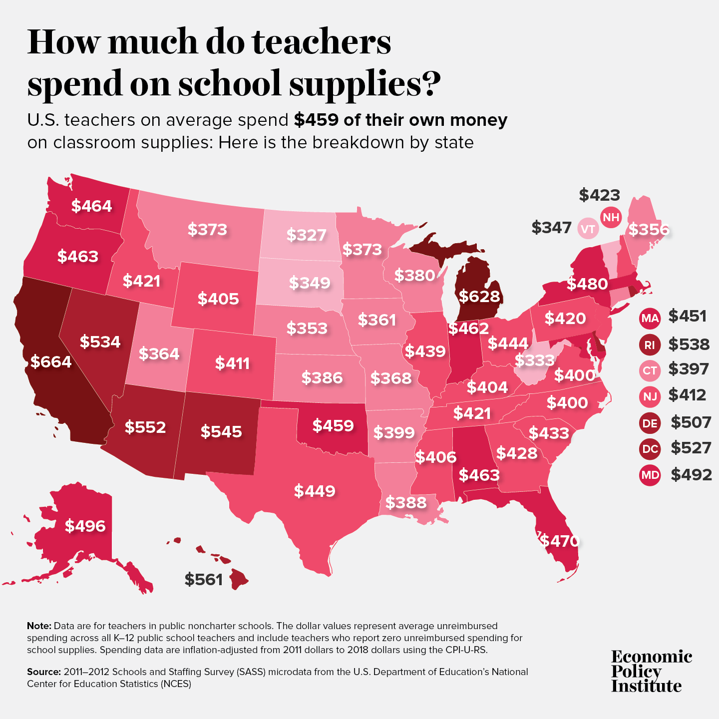 Teachers pay out-of-pocket to keep their classrooms clean of COVID-19: Teachers already spend on average $450 a year on school supplies 2